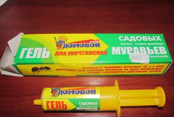 На фото: гель от муравьев Домовой