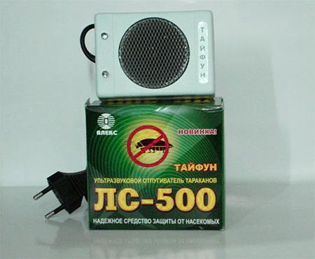 На фото: отпугиватель Тайфун ЛС-500