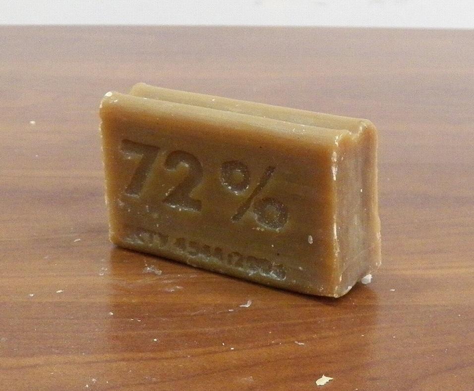 На фото: хозяйственное мыло
